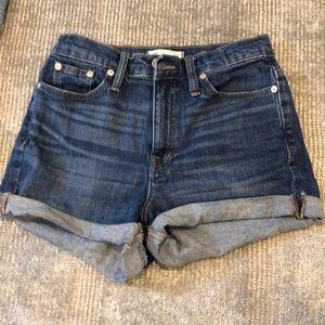Madewell high rise denim shorts EUC